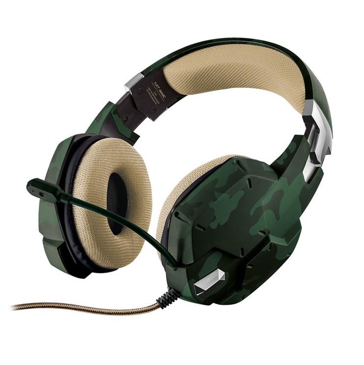 Игровые наушники Trust GXT 322C, зеленый