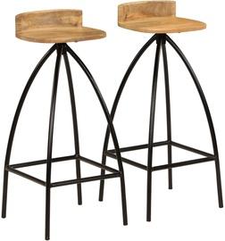 Bāra krēsls VLX Solid Mango Wood 245265, brūna/melna, 2 gab.