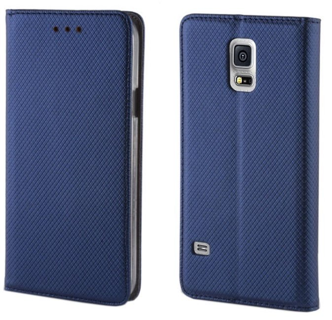 TakeMe Smart Magnetic Fix Book Case For Samsung Galaxy A80 Dark Blue