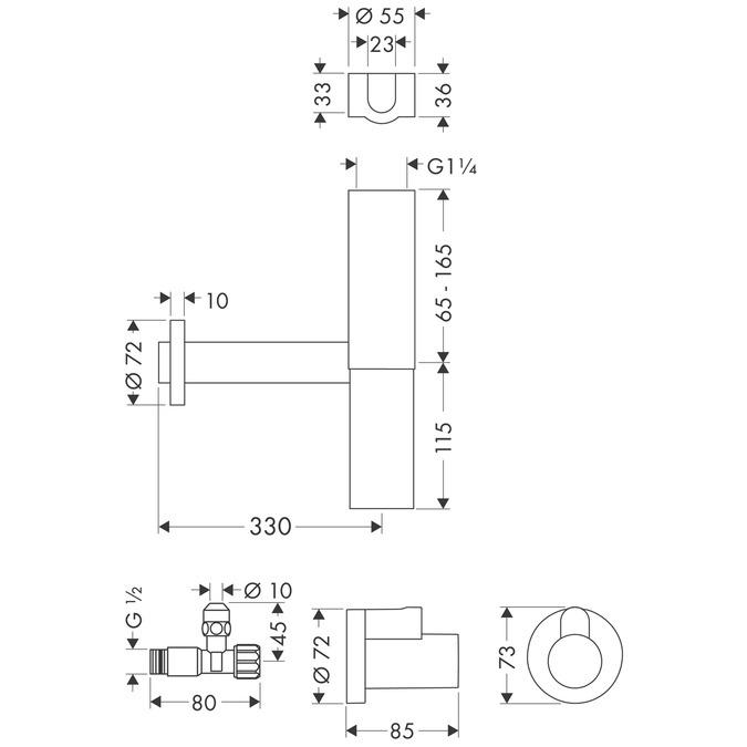 Hansgrohe Crometta 100 EcoSmart 9l Showerhead