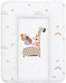 Matracis autiņu maiņai Ceba Baby Small Giraffe Soft, 70x50 cm, balta