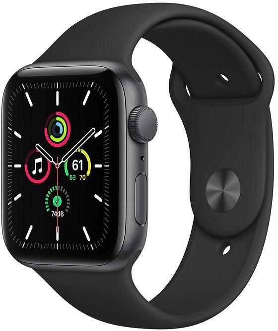 Apple Watch SE GPS 44mm Space Gray Aluminum Black Sport Band