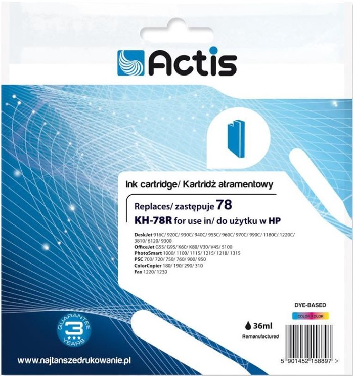 Actis Cartridge KH-78R For HP 45ml Multicolor
