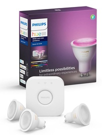 Philips Hue White and Colour Ambience Starter Kit GU10
