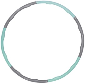 Vingrošanas loks SportVida Foldable Hula Hoop, 1000 mm, 1.2 kg, pelēka/gaiši zila