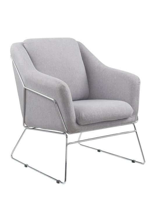 Atzveltnes krēsls Halmar Soft, pelēka, 76x69x81 cm