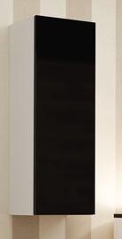Cama Meble Vigo 90 Full Cabinet White/Black Gloss