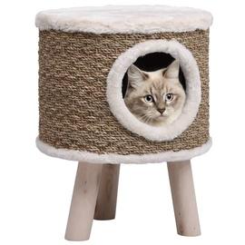 Домик для животных VLX Cat House, коричневый/белый, 300 мм x 300 мм