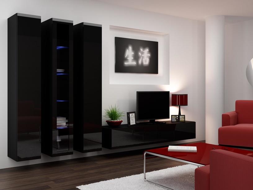 Cama Meble Vigo 180 Glass Case Black/Black Gloss