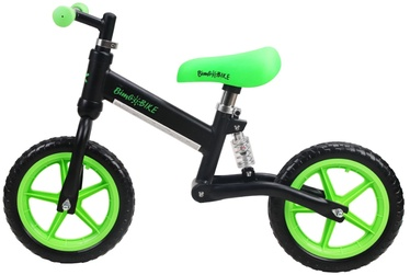 """Līdzsvara velosipēds Bimbo Bike Runner 12'' 75905, melna/zaļa, 12"""""""