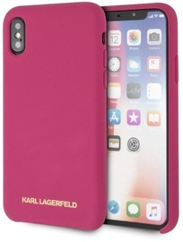Karl Lagerfeld Silicone Back Case For Apple iPhone X/XS Pink
