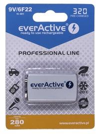 Uzlādējamais elements EverActive Professional Line Rechargeable Batteries 6F22 9V 320mAh