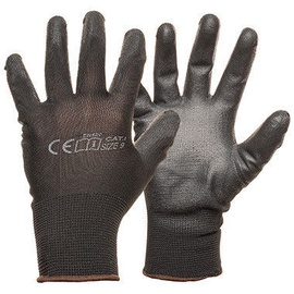 Monte Nylon Knitted Gloves With PU Black 9