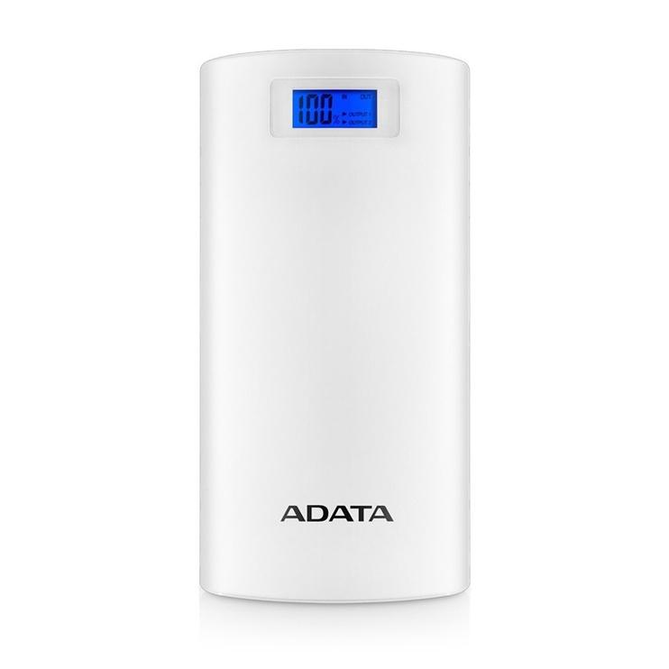 Ārējs akumulators ADATA AP20000D White, 20000 mAh