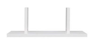 Black Red White Junona Line Wall Shelf 40cm White
