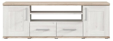 ТВ стол Black Red White Romance RTV2D2S, дубовый, 1520x440x510 мм