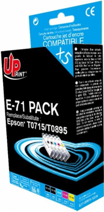 Uprint Cartridge For Epson 2x 12ml Black 10ml Magenta 10ml Yellow 10ml Cyan 10ml