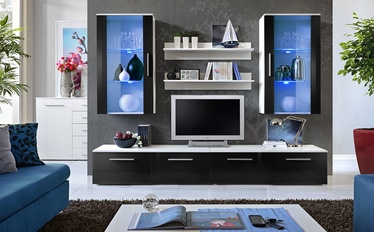 Dzīvojamās istabas mēbeļu komplekts ASM Galino G Black/White