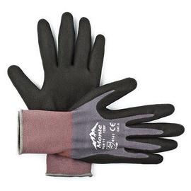 Monte Nylon + Spandex Gloves With Nitrile Micro Foam Palm 10
