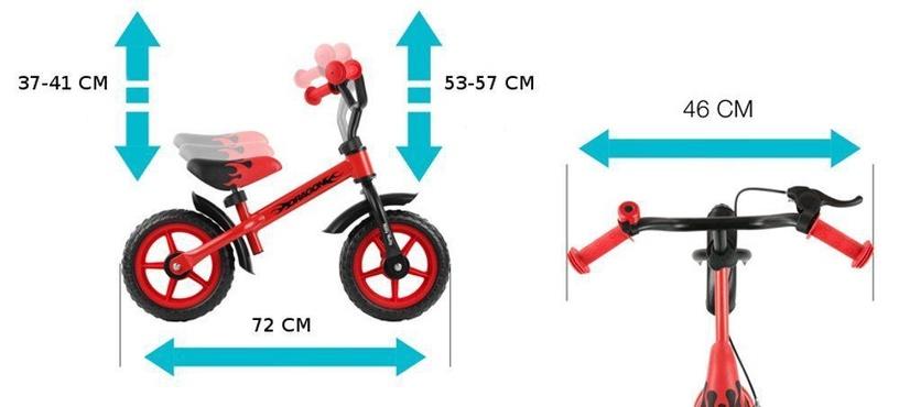 Līdzsvara velosipēds Milly Mally Dragon With Brakes Pink 0160