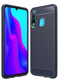 Hurtel Carbon Back Case For Huawei P30 Lite Blue