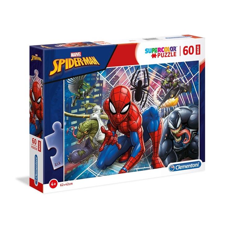 Puzle Clementoni SuperColor Marvel Spider-Man 26444, 60 gab.