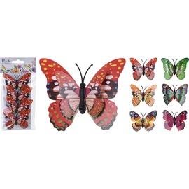 Dekorēšanas rīks Butterflies With Clip 7x5.5cm 4pcs