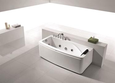 Vento Massage Bath With Mixer Left 1600x800x560 White