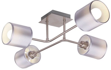 Gaismeklis Candellux SAX Ceiling Lamp 4x40W E14 Satin /Nickel