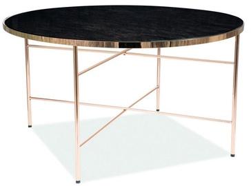 Kafijas galdiņš Signal Meble Ibiza B Marble/Gold, 800x800x450 mm