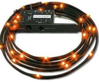 NZXT Sleeved 24 LED Kit 2m Orange