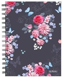 Piezīmju bloks Herlitz Spiral Notepad A5/100p Ladylike Black
