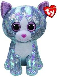 Плюшевая игрушка TY Beanie Boos Flippables Sequin Blue Cat, 42 см