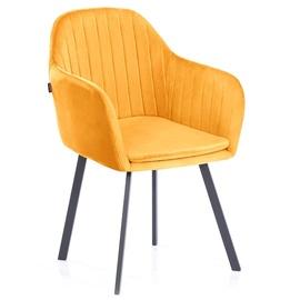 Ēdamistabas krēsls Homede Trento Mustard, 2 gab.
