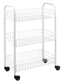 Metaltex Slim Three Stage Rolling Cart 56x23x84cm