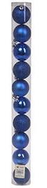 Ziemassvētku eglītes rotaļlieta Verners Blue, 60 mm, 10 gab.