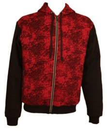 Bars Mens Training Jacket Black/Red S