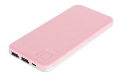 Ārējs akumulators Puridea S2 Pink, 10000 mAh