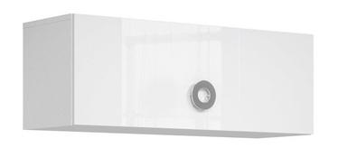 Black Red White Ringo Hanging Cabinet 100cm Alpine White/Glossy White