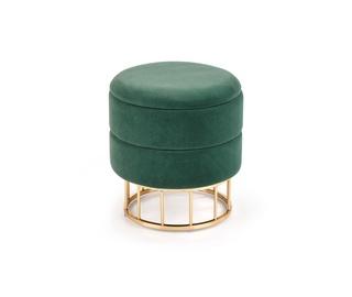Pufs Halmar Minty, zelta/zaļa, 37 cm x 37 cm x 41 cm
