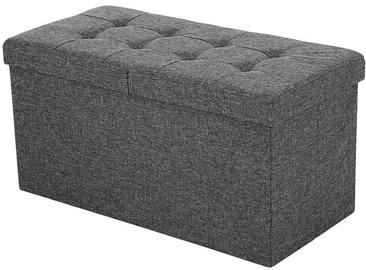 Пуф Songmics, серый, 76 см x 38 см x 38 см