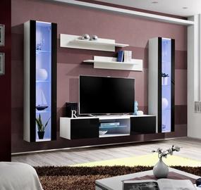 Dzīvojamās istabas mēbeļu komplekts ASM Fly O2 Black/White