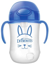 Dr Brown's First Straw Cup 270ml Blue
