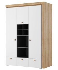 Гардероб Szynaka Meble Riva 1 White/Oak, 138x60x197 см
