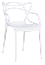 Ēdamistabas krēsls Home4you Butterfly White 30026, 1 gab.