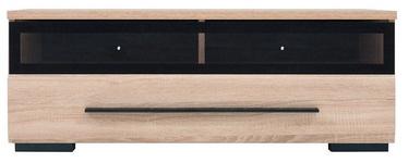 TV galds Black Red White Fever Sonoma Oak/Black, 1000x500x370 mm