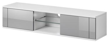 ТВ стол Vivaldi Meble Hit, белый/серый, 1400x360x305 мм