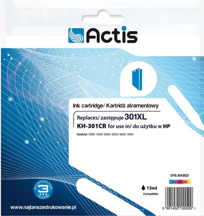 Actis Cartridge KH-301CR For HP 21ml MultiColor