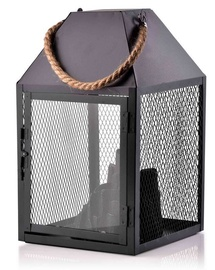 Mondex Kanvar Fireplace LED Lanterns Black 30cm