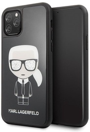 Karl Lagerfeld Iconic Karl Glitter Back Case For Apple iPhone 11 Pro Black